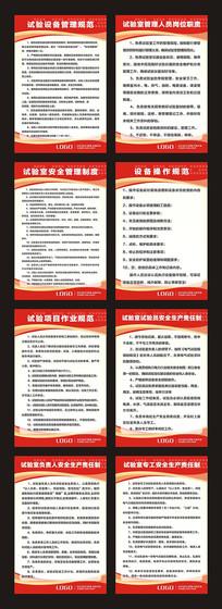 企业试验室管理制度展板