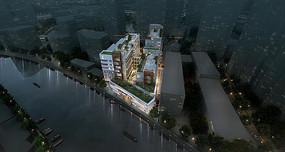 上海工业园区建筑鸟瞰图