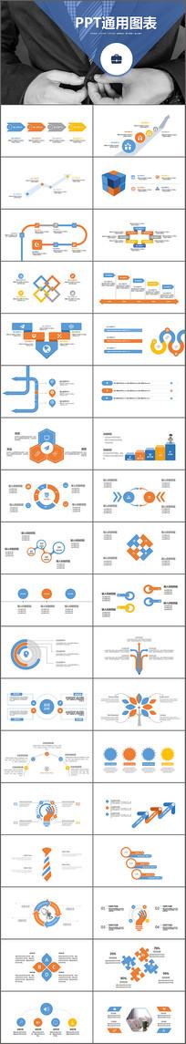 商务通用PPT图表