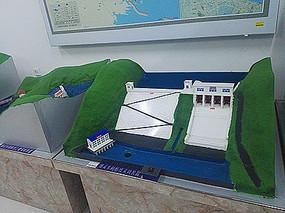 水利设施堤坝模型意向图