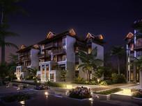 特色民宿住宅建筑模型