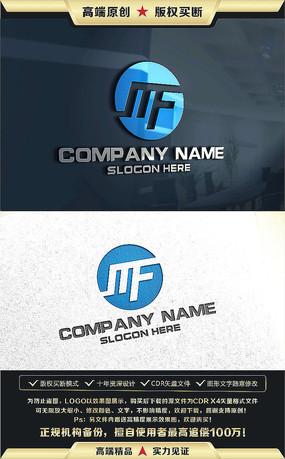 MF字母标志原创公司企业标志