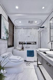 白色简欧风浴室