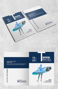 滑板剪影旅游封面