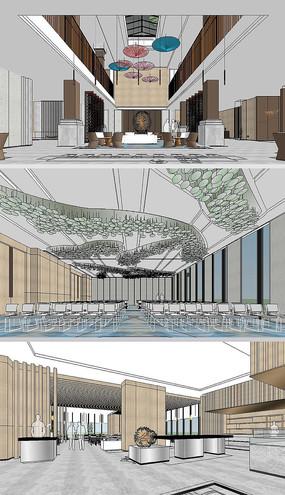 酒店草图大师室内SU模型