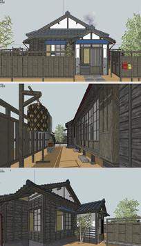 日式住宅建筑草图SU模型