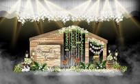 森系婚礼迎宾区 PSD