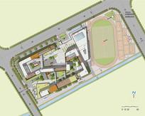 校园规划彩平图