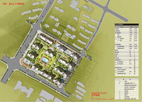 住宅区彩色平面图