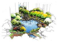 住宅区中心水景透视图 JPG
