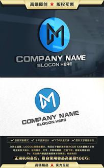 M字母标志原创企业LOGO