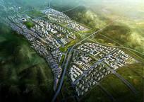 北面城市设计鸟瞰图 JPG
