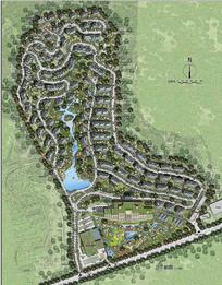 别墅小区规划设计总图