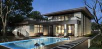 别墅泳池景观