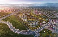 规划项目A区日景鸟瞰