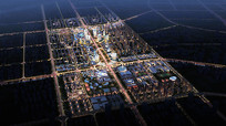 某城市项目夜景鸟瞰