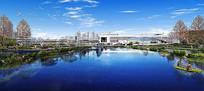某工业区新市镇河道效果