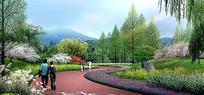 某公园景观区分区效果图