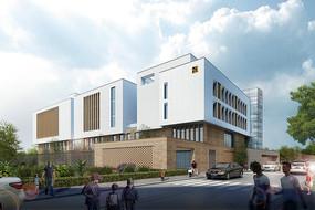幼儿园建筑透视图