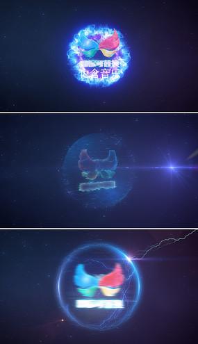 震撼粒子电流爆炸标志展示模板