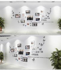 时尚大气企业文化墙展厅照片墙