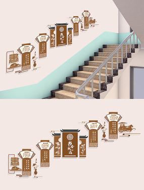 校园楼梯文化墙布置