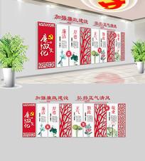 中式党建廉政文化墙布置