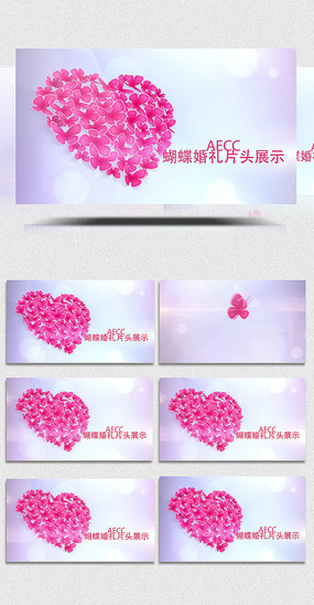 AECC蝴蝶婚礼片头展示模板