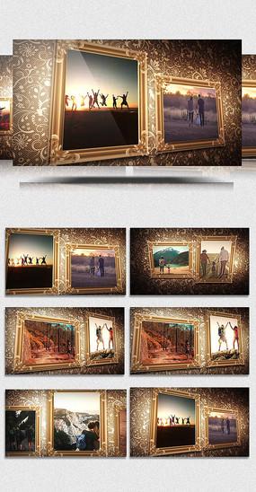 AECC欧式家庭纪念相册展示模板