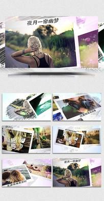 AECC水墨笔刷写真展示模板