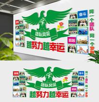翅膀企业文化墙员工风采照片墙