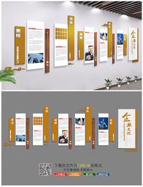 高档大气企业文化墙矢量设计