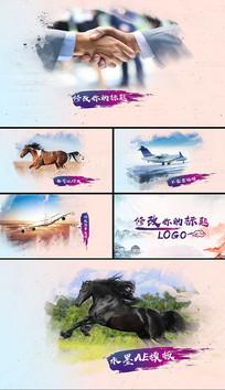 水墨中国风图文展示AE模板