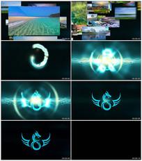 图片路径汇聚Logo动画AE模板