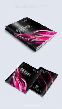 紫色动感时尚大气封面模板