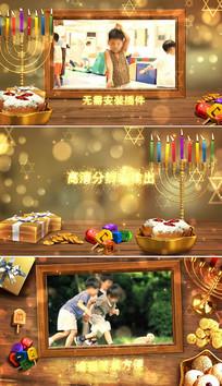 儿童生日庆祝相册ae模板