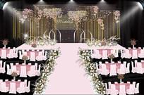粉色婚礼仪式效果图背景 PSD