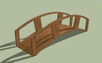 简约园林拱桥 模型 skp