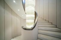 极具古典之美的弧形楼梯 JPG