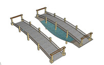 景观桥梁组合模型 skp