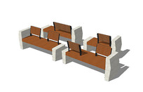 景观座椅模型集合 skp