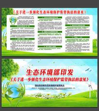 生态环境保护监管宣传展板