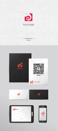 时尚简约的大象logo设计