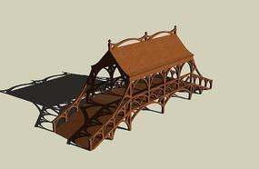 特色中式木质拱桥