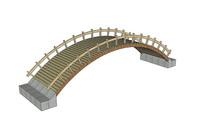 现代木质拱桥 skp