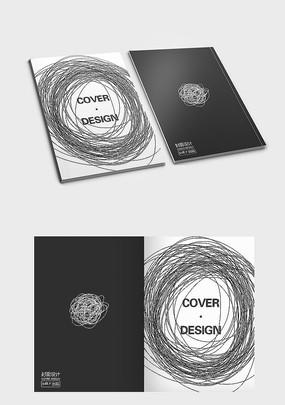 线条线团创意封面设计