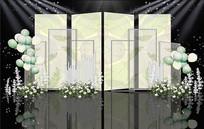 小清新户外婚礼效果图 PSD