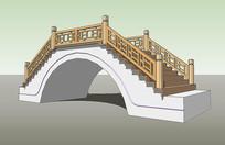 新中式景观拱桥 skp