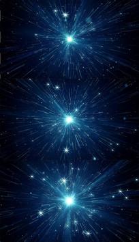 4K蓝色粒子穿梭背景视频素材