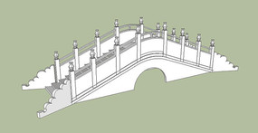纯白石制拱桥